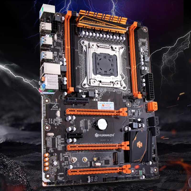 Huananzhi X79 Motherboard LGA 2011 ATX USB3.0 SATA3 PCI-E NVME M.2 Support 4x16G REG ECC Memory And Xeon E5 Processor M5TB
