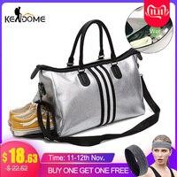 PU Leather Sports For Fitness Yoga Bags Women Travel Sport Handbag Crossbody Waterproof Training Gym Bags Shoes Storage XA932WD