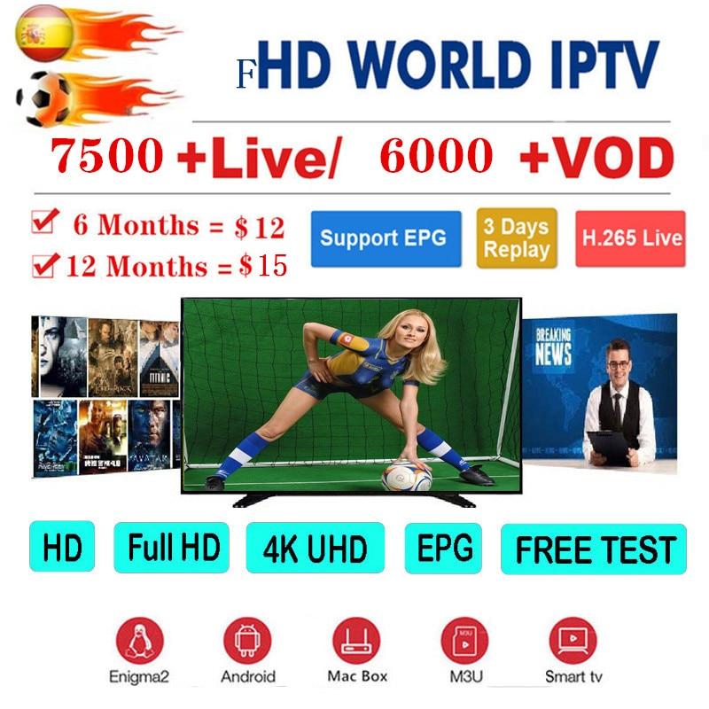 1 Year Europe US UK Brazil Poland Spain French IPTV Subscription 8000+Live France HD IPTV M3u Enigma Vod Sports Adult Free Test