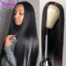 Парик с клюквенными волосами, прямые волосы, парик без повреждений, бразильский парик на сетке, парики из человеческих волос для черных женщ...