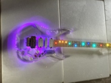Electric Guitar/Acrylic Crystal Multicolor Lighting Beautiful High Quality Guitar/Anmiyue China Guitar