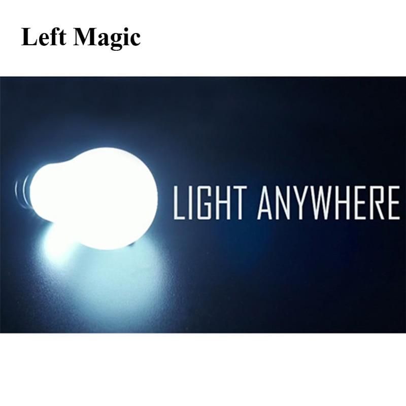 Ampoule télécommande, lumière n'importe où, bulle super brillante-tours de magie mentalisme gros plan, accessoires de magie, accessoires