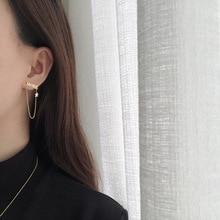 Amaiyllis 18K Gold Asymmetry Name MORE Stars Earrings Stud Tassel Chain Gold Earrings For Women Summer Jewelry Gift недорого
