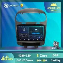 Rádio esperto dos rádios do carro com jogador multimídia da navegação de gps android 9.0 2 din para o salto fiat da viagem de dodge 2012-2020