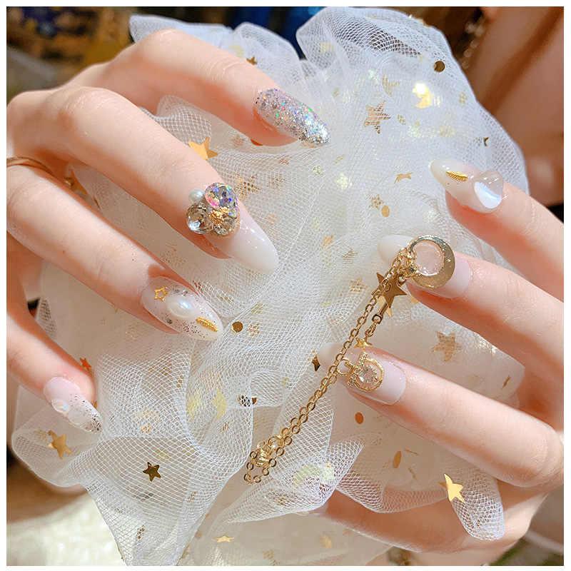 2 قطع قطرة الماء كريستال استرخى سلسلة Charms مجوهرات أظافر الزينة 13 نوع الفاخرة الزركون كريستال الراين للأظافر