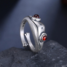 Bohemian Animal Frog Adjustable Finger Ring For Women Men Vintage Punk Creative Animal Figure Ring Valentine's Day Jewelry