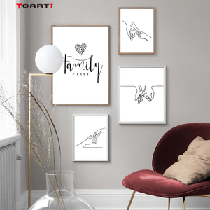 Minimalist Human Body Line Drawing Wall Art Modern Abstract Painting Family Quotes Vintage Posters&Prints Living Room Home Decor(China)