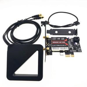 Image 1 - Con antena externa Chipset Intel 9260 AC 9260AC 9260NGW MU MIMO Bluetooth 5,0 1730Mbps PCI E PCIe 1x X1 tarjeta de escritorio
