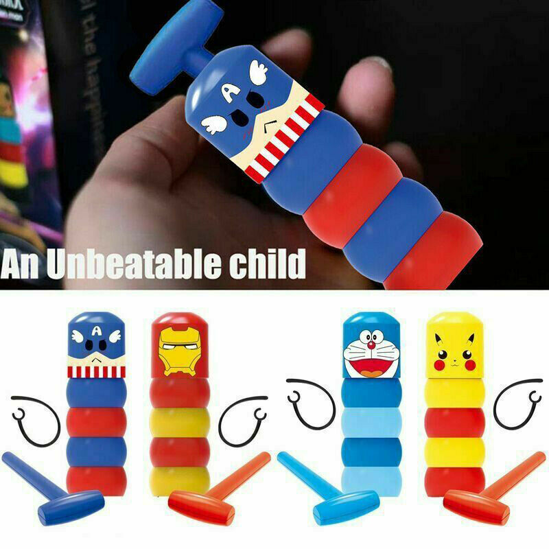 New Unbreakable Wooden Man Magic Toy Small Wooden Toy For Boys Girls Baby Kids