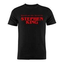 Футболка унисекс из хлопка с изображением клоуна из мультфильма Стивен Кинг, Забавный силуэт, Подарочная футболка