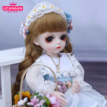 UCanaan 1/6 BJD Doll 30CM 18 Ball Joints Dolls With Full Outfits Dress Wig Shoes Makeup Girls DIY Toys Best Gifts Collection