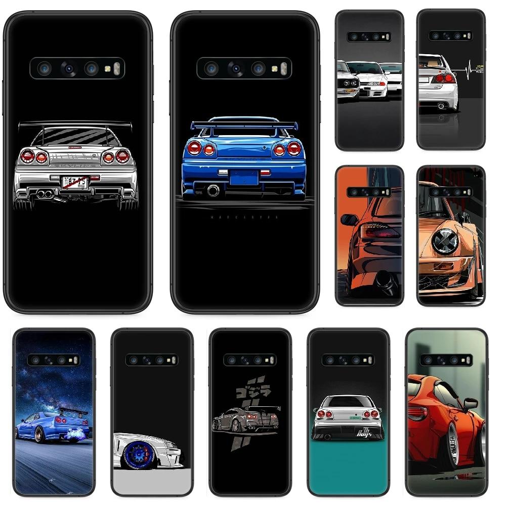 Cool Japan JDM Sports Car Phone case For Samsung Galaxy S 10 20 3 4 5 6 7 8 9 Plus E Lite Uitra black coque luxury Etui