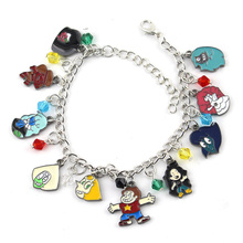 Hot Anime Catoon 10 Themed Charms Steven Universe Bracelet Assorted Metal Charm Bracelets for Gifts Dropping