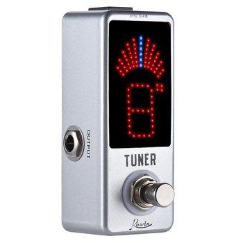 Rowin Mini chromatyczny Tuner gitarowy pedał precyzyjny Tuner pedał wyświetlacz LED true bypass na gitara basowa akcesoria gitarowe tanie i dobre opinie LOWIN Rowin LT-910 Efekty NONE DC 9V AC adapter (center minus plug)(not included)