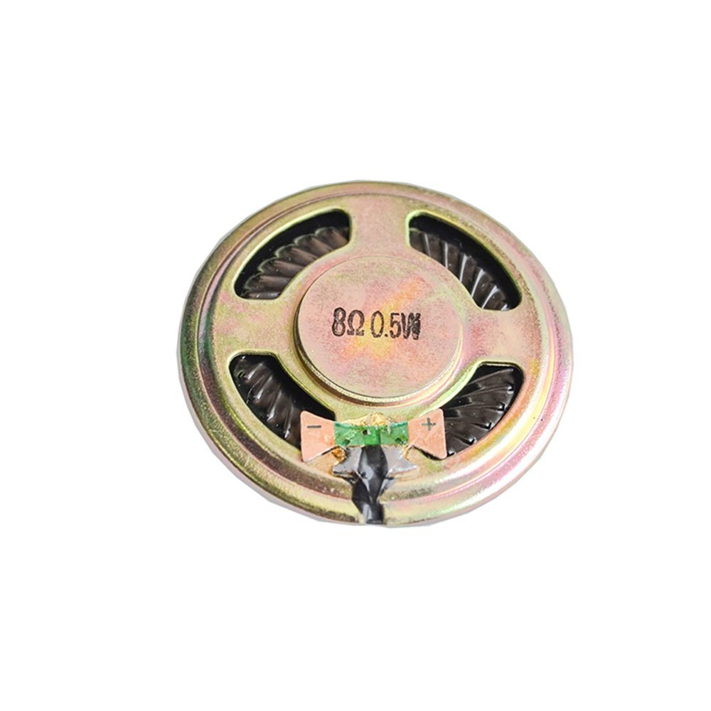5pcs 0.5W 8R Loudspeaker 36MM 8 Ohms 5W Mini Round Speaker Diameter Thickness 4.8MM Small Horn Doorbell Speaker 8Ohm For Arduino