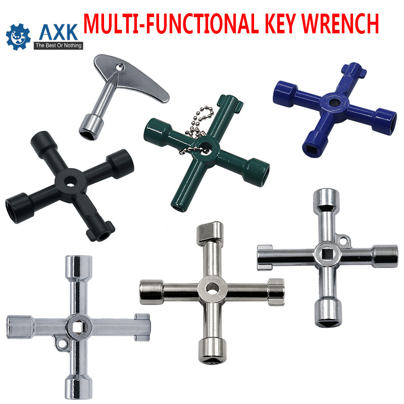 Multifunction 4 Ways Universal Triangle Wrench Key Plumber Keys Triangle For Gas Electric Meter Cabinets Bleed Radiators DT135
