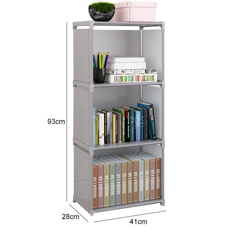 Multi schicht Einfache Bücherregal Vlies stoff Buch veranstalter schrank Montage wand Kinder regal bücherregal Home Möbel