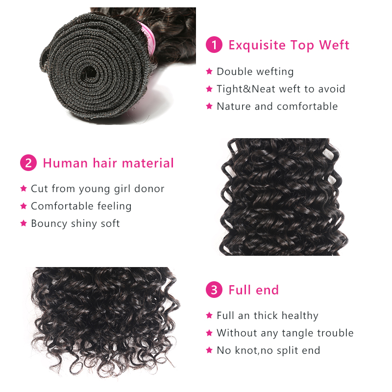 Beauty Forever Malaysian Curly Hair Weave Bundles Remy Human Hair Weaving Natural Color High Ratio 8-26inch Free Shipping