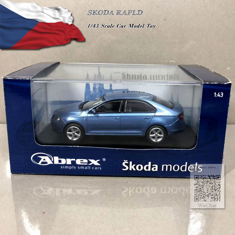 ABREX 1/43 Scale SKODA RAPLD Diecast Metal Car Model Toy For Collection,Gift,Kids