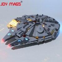 Alegria mags só kit de luz led para 75257 guerra estrela 2019 nova edição millennium iluminação conjunto compatível com lj99022
