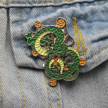 Broche de dragón de Metal corbata Pin ropa sombrero de mochila Pins de moda Anime dragón insignias adhesivas hombres solapa Pins M1965