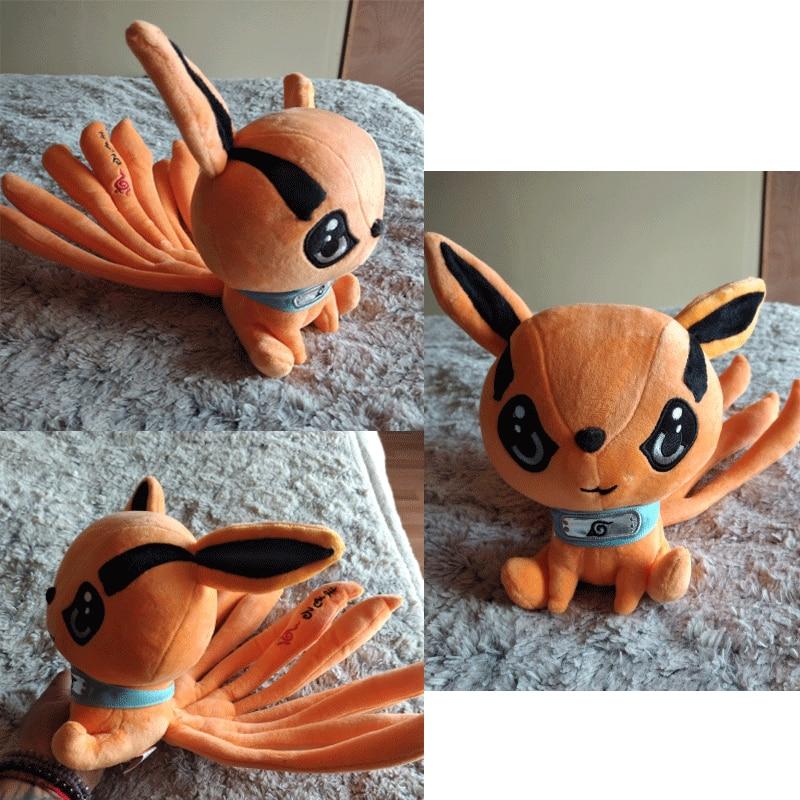 Anime Kurama Cosplay Nine tail Fox Animal Plush Doll Stuffed Toy Kids Cute Gift