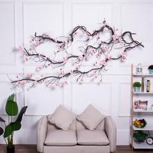 モクレン結婚式のアーチの装飾花壁アイビーつるの花輪造花花輪枝をぶら下げ壁の花花輪