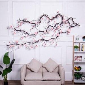 Image 1 - Свадебное украшение из магнолии, цветочный настенный венок с искусственными листьями, гирлянда