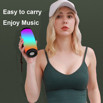 Powerful Bluetooth Speaker Boombox Wireless Speaker LED Light Support TF card AUX cable with MIC for Smartphone PC Computer 6