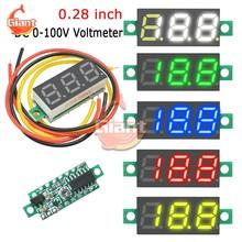 Mini voltmètre numérique à 3 fils, 0.28 pouces, Tube LED, 5V, 12V, 24V, 36V, 48V, testeur de tension, pour motos