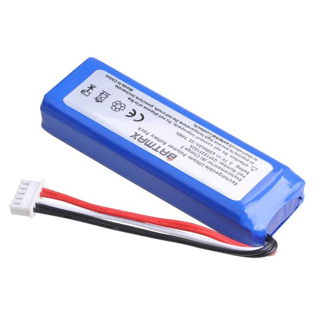 3.7V 6200mAh Battery Bateria GSP1029102A for JBL Charge 3