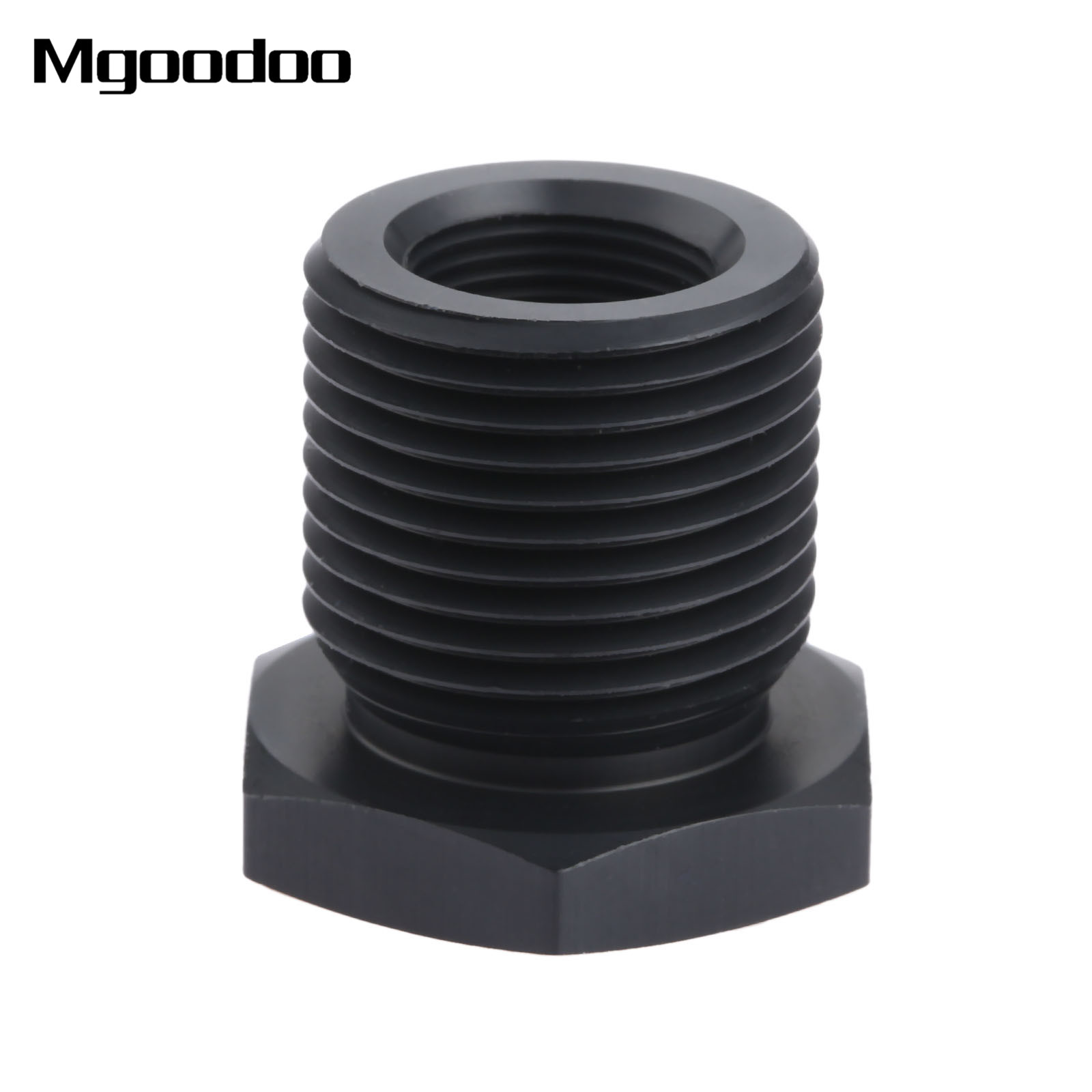 Aluminum Alloy Automotive Threaded Oil Filter Adapter 13//16-16 to 1//2-28 Black