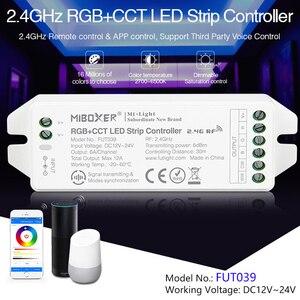 FUT039 (обновление) 2,4 GHz RGB + CCT Светодиодная лента управления ler DC12 ~ 24V Диммируемый светодиодный драйвер 6A/канал общий анод может дистанционное/Г...