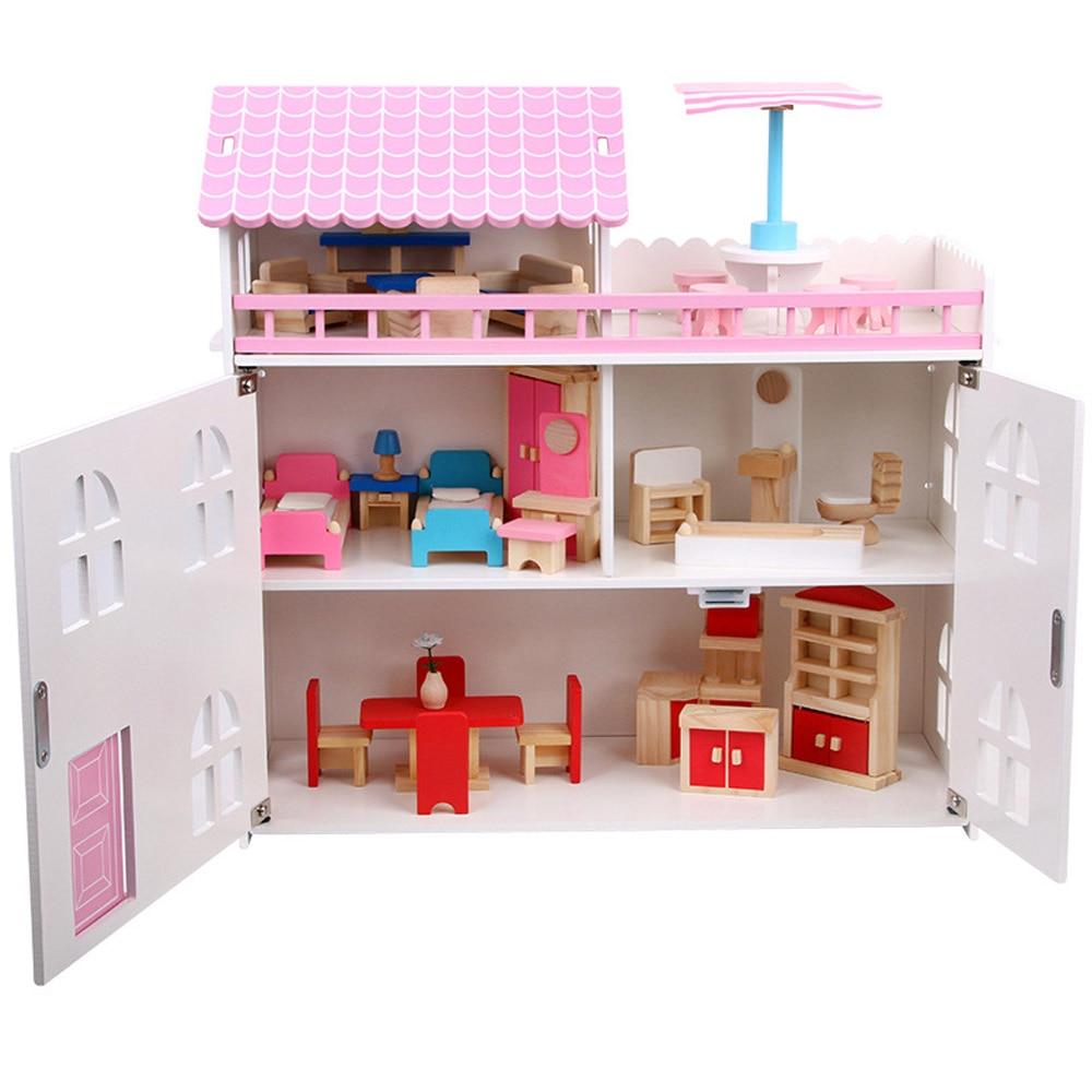 Дети и девочки имитация деревянная мини мебель развивающие игрушки ролевые игры Костюм маленькое деревянное украшение для кукольного доми