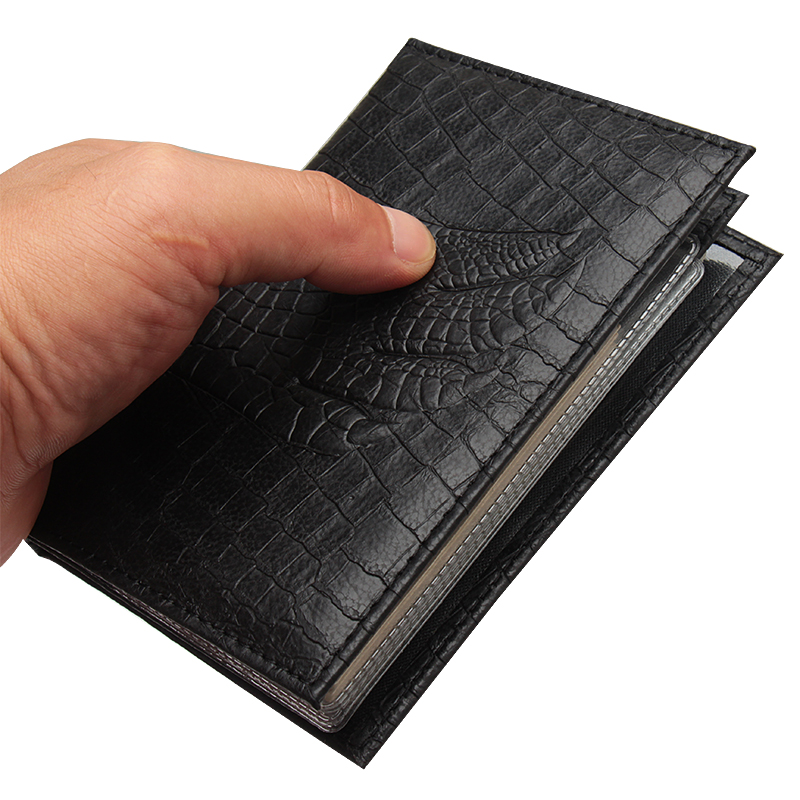 Crocodile Passport Cover With Russian Auto Driver License Bag PU Leather On Cover For Car Driving Documents Card Credit Holder