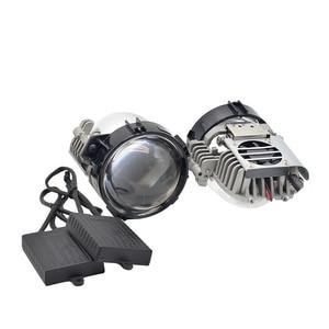Image 2 - 40W 2.5 นิ้ว BI LED โปรเจคเตอร์เลนส์ Retrofit LED Headllamp สูงต่ำ Beam HID Xenon เลนส์รถอุปกรณ์เสริม