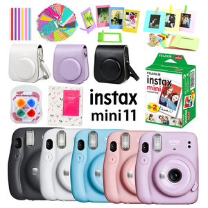 Pink/Blue/Gray/White/Purple Fujifilm Instax Mini 11 Instant Camera + 20 White Film + Case Bag + Album + Filter + Accessories Set