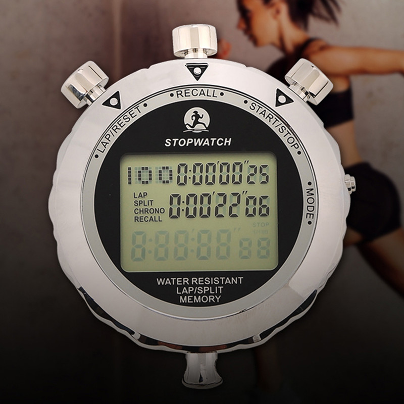 Digital Professional Training Stopwatch Handheld Referee Military Training Running Swimming Sports Metal Stopwatch