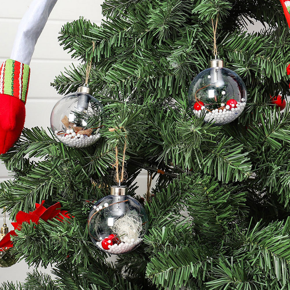 Christmas Tree Ornaments Christmas Baubles Balls with LED Light Hanging Pendant Christmas Decorations Home Decor navidad 2019 in Ball Ornaments from Home Garden