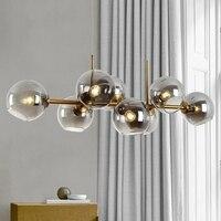 Moderne Glas Ball Anhänger Lichter Magische Bean Anhänger Licht Kreative Molekül Design Wohnzimmer Küche Bar Hängen Leuchte