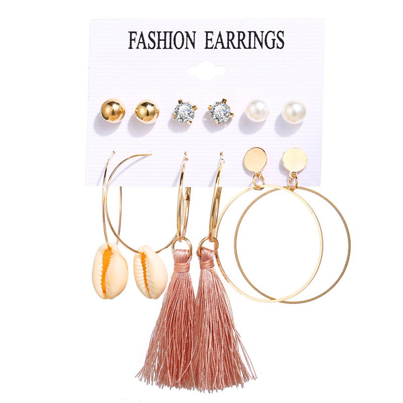 H0938be5862754952a25b4694a0e842b2v - IF ME Fashion Vintage Gold Pearl Round Circle Drop Earrings Set For Women Girl Large Acrylic Tortoise shell Dangle Ear Jewelry