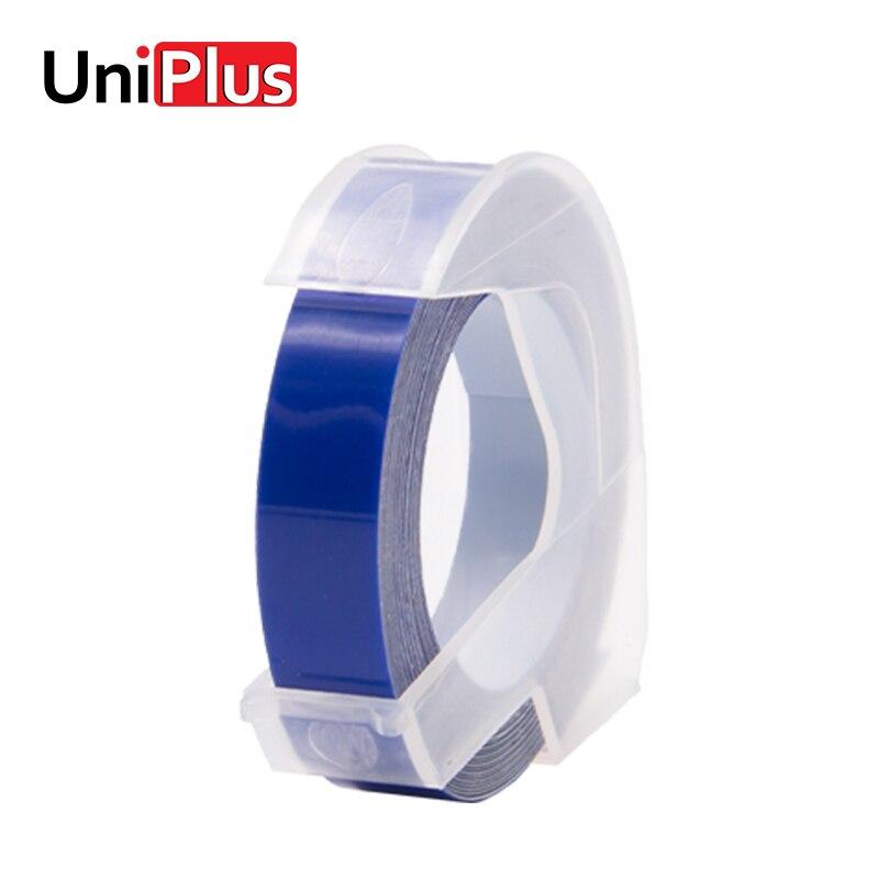 Uniplus 3d Dymo Label Tape Biru 9 Mm Embossing Diy Huruf Pita Untuk Motex E 101 Motex E 202 Motex E 303 Label Printer Stiker Pita Printer Aliexpress