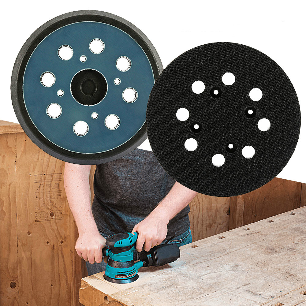 "5/"" Holes Hook And Loop 1 Set For Makita Sanding Discs Sanding Disc Pads 125mm"