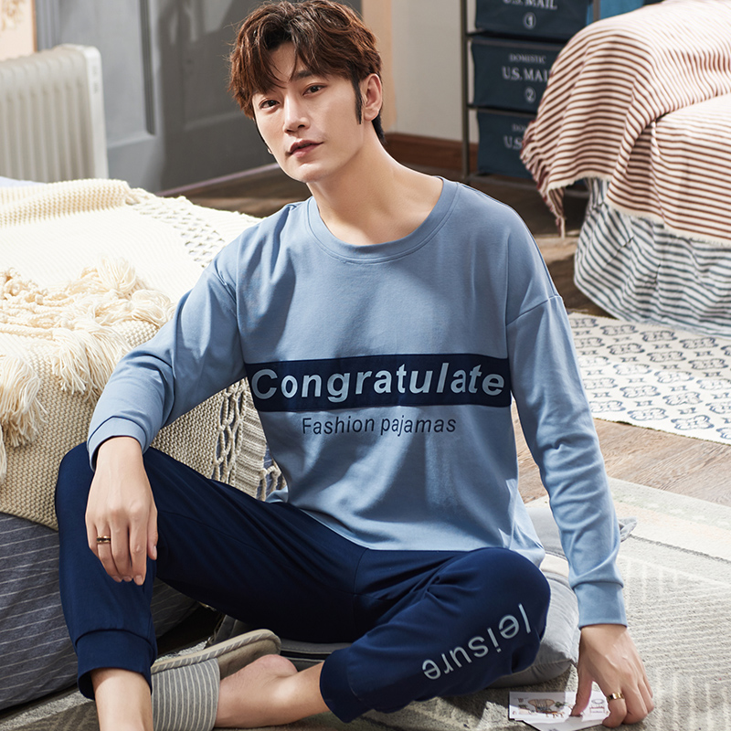 Long Sleeve Pijamas Hombre 100%cotton Pajamas Set For Male Plus Size Sleep Clothing Casual Nightie Sleepwear Men Pyjamas Suit