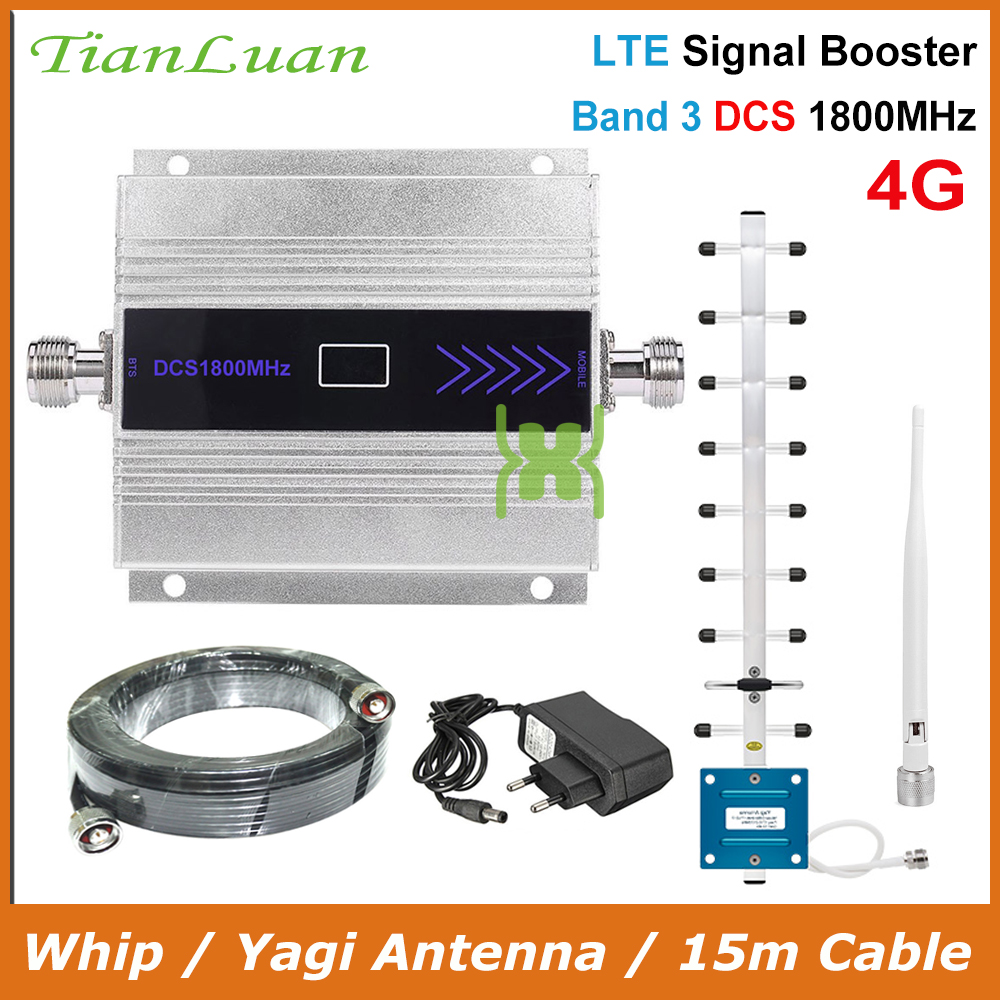 TianLuan Mini 4G 1800 LTE DCS Repeater Cellular Booster Amplifier 2G 4G 1800MHz Cellular Signal Booster Amplifier LCD Display
