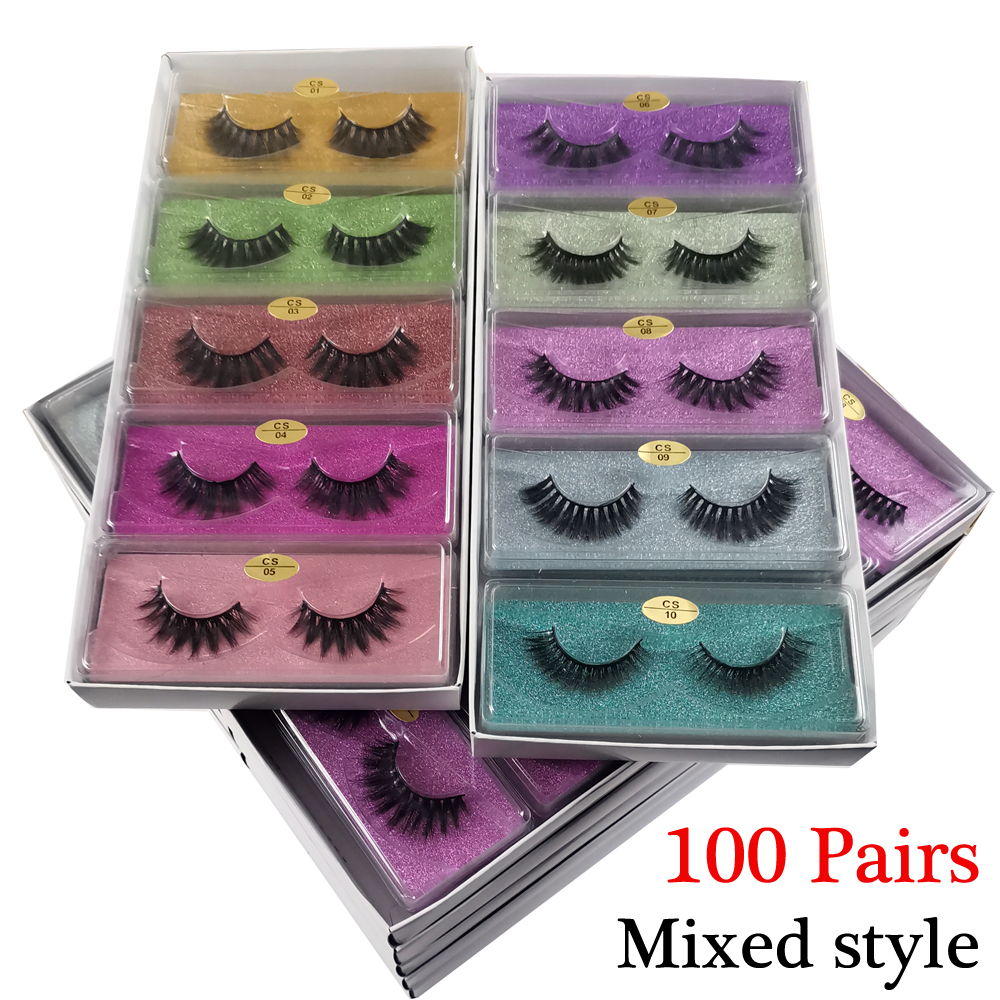 3D Eyelashes Wholesale 10/20/30/40/50/100 Makeup 3D Mink Lashes False Eyelashes Natural Thick Mink Eyelashes In Bulk Cilios