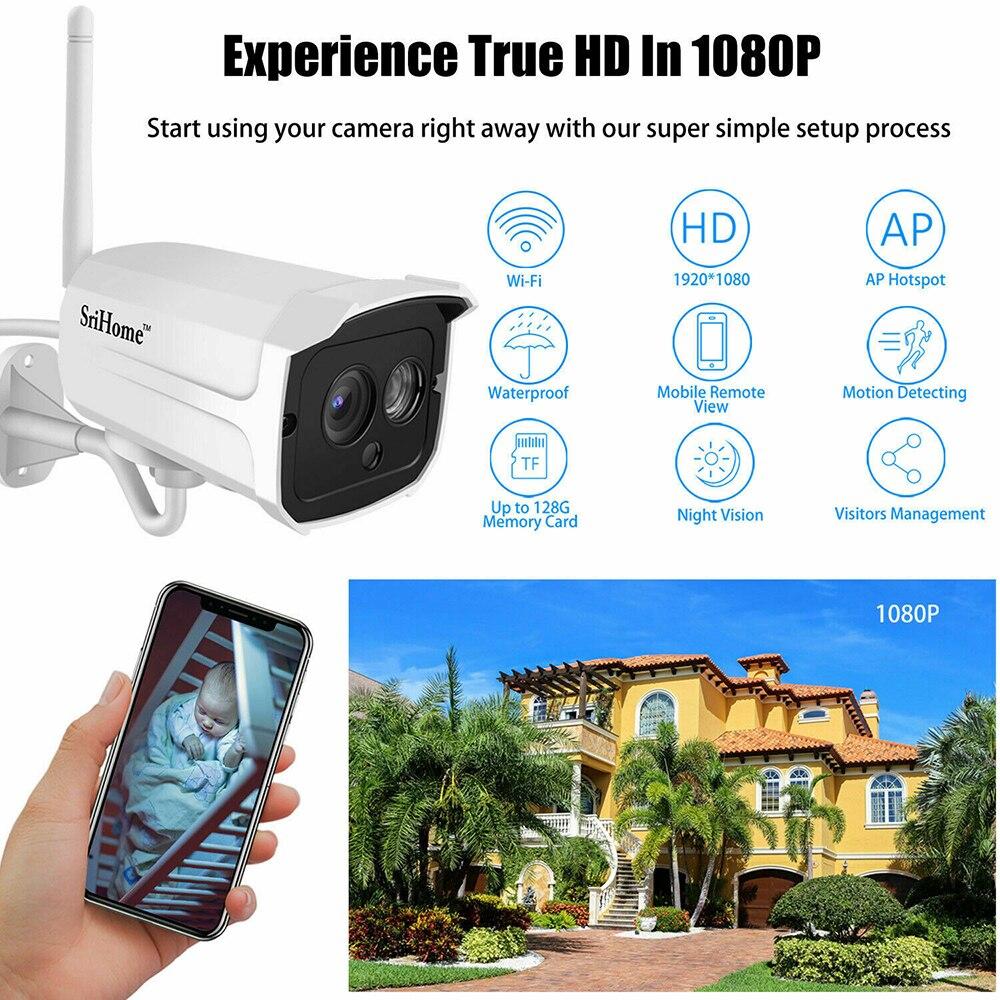 Sricam 1080P Drahtlose Wifi IP Kamera 2.0MP CCTV Sicherheit Außen Kamera Wasserdichte Kamera Nachtsicht camaras de seguridad