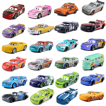 Disney Pixar Cars 2 3 Lightning McQueen Mater Jackson Storm Ramirez 1:55 Diecast Vehicle Red No.48 Car Combination Kids Gifts image