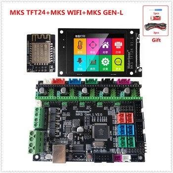 MKS GEN-L 2.0 motherboard MKS TFT24 touch screen TFT 2.4 lcd display MKS WIFI 3D printer shield control panel diy starter kit фото