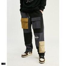 Cooo Coll Men Women Long Pants Hip Hop Streetwear punk Rock Jogger Kanye West Harajuku pocket cargo Casual Pencil Trousers